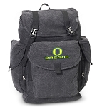 University of Oregon LARGE Canvas Backpack Black