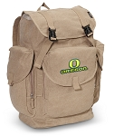 University of Oregon LARGE Canvas Backpack Tan