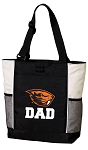 Oregon State Dad Tote Bag White Accents
