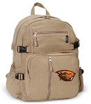 Oregon State Beavers Canvas Backpack Tan
