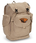 Oregon State Beavers LARGE Canvas Backpack Tan