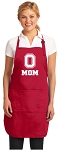 Deluxe Ohio State Mom Apron Red