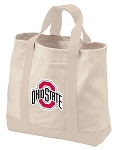 Ohio State University Tote Bags NATURAL CANVAS