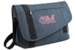 Phi Mu Messenger Laptop Bag Stylish Navy