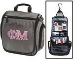 Phi Mu Toiletry Bag Gray