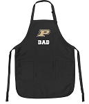 Official Purdue Dad Apron Black