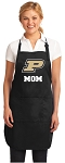 Official Purdue Mom Apron Black