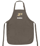 Official Purdue University Grandma Apron Tan