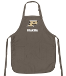 Official Purdue University Grandpa Apron Tan