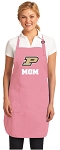 Deluxe Purdue Mom Apron Pink - MADE in the USA!