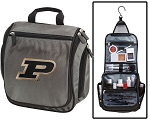 Purdue Toiletry Bag or Purdue University Shaving Kit Organizer for Him Gray