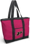 Deluxe Pink Purdue University Tote Bag