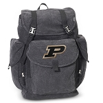Purdue University LARGE Canvas Backpack Black