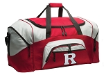 RU Duffle Bag or Rutgers University Gym Bags Red