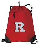 RUTGERS Drawstring Backpack MESH & MICROFIBER Red