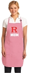 Deluxe Rutgers University Mom Apron Pink - MADE in the USA!