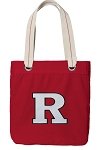 RUTGERS Tote Bag RICH COTTON CANVAS Red