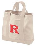 Rutgers University Tote Bags NATURAL CANVAS