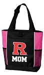 Rutgers University Mom Tote Bag Pink