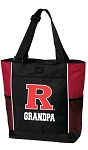 Rutgers University Grandpa Tote Bag Red