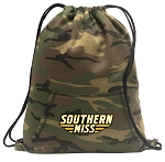 Southern Miss Drawstring Backpack Green Camo