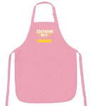 Cute Southern Miss Grandma Apron Pink - MADE in the USA!