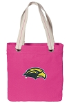 Southern Miss Tote Bag RICH COTTON CANVAS Pink