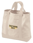 Southern Miss Tote Bags NATURAL CANVAS