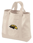 USM Southern Miss Tote Bags NATURAL CANVAS