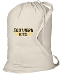 USM Southern Miss Laundry Bag Natural