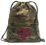 Texas A&M Drawstring Backpack Green Camo