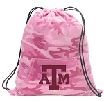 Texas A&M Drawstring Backpack Pink Camo