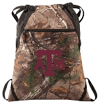 Texas A&M RealTree Camo Cinch Pack