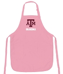 Deluxe Texas A&M Grandma Apron Pink - MADE in the USA!