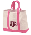 Texas A&M Tote Bags Pink