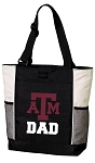 Texas A&M Dad Tote Bag White Accents