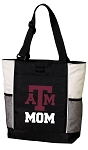 Texas A&M Mom Tote Bag White Accents