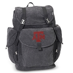 Texas A&M LARGE Canvas Backpack Black
