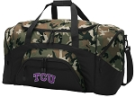 Official Texas Christian University Camo Duffel Bags