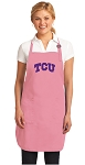 Deluxe Texas Christian Apron Pink - MADE in the USA!