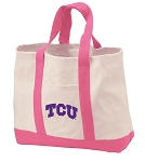Texas Christian Tote Bags Pink