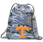 Tennessee Vols Drawstring Backpack Blue Camo