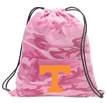 Tennessee Vols Drawstring Backpack Pink Camo