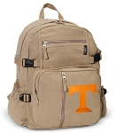 Tennessee Vols Canvas Backpack Tan
