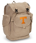 Tennessee Vols LARGE Canvas Backpack Tan