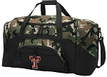 Official Texas Tech Camo Duffel Bags