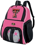 Girls Texas Tech Soccer Backpack or Texas Tech Red Raiders Volleyball Bag