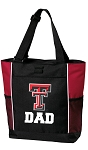 Texas Tech Dad Tote Bag Red