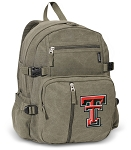 Texas Tech Canvas Backpack Olive