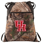University of Houston RealTree Camo Cinch Pack